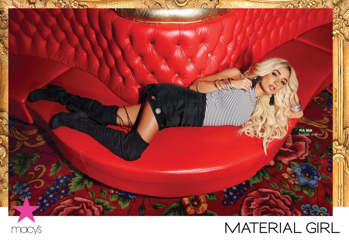 Pia Mia for Material Girl fall 2016. Photo: Solmaz Saberi