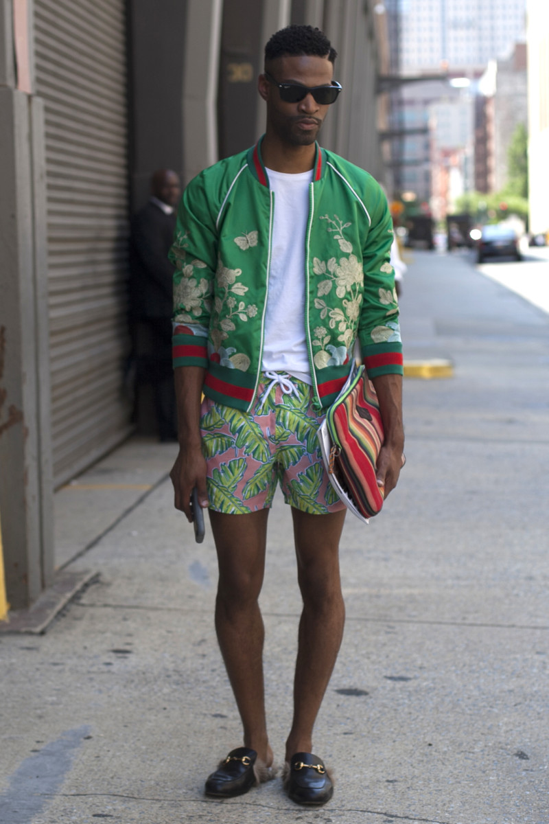 On the street at New York Fashion Week: Men's. Photo: Emily Malan/Fashionista