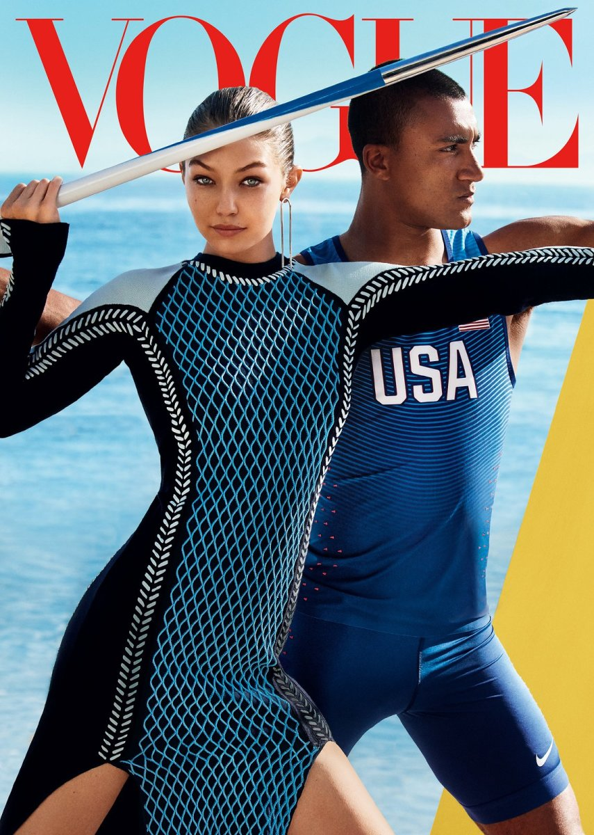 Looking strong, Gigi. Photo: Mario Testino for Vogue