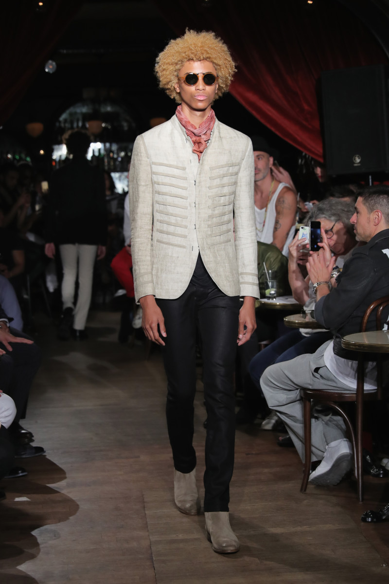 A look from the spring 2017 John Varvatos collection. Photo: Neilson Barnard/Getty Images for John Varvatos