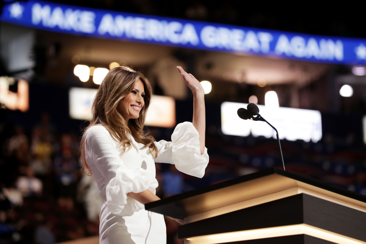 Melania Trump in Roksanda at the 2016 Republican National Convention in Cleveland, Ohio on Monday. Photo: Chip Somodevilla/Getty Images