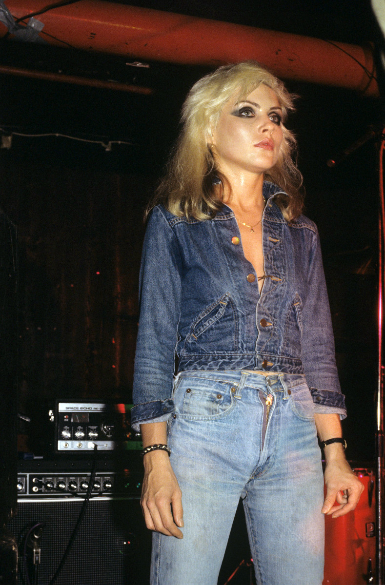Debbie Harry wearing Levi's 505s in 1976. Photo: Richard Young