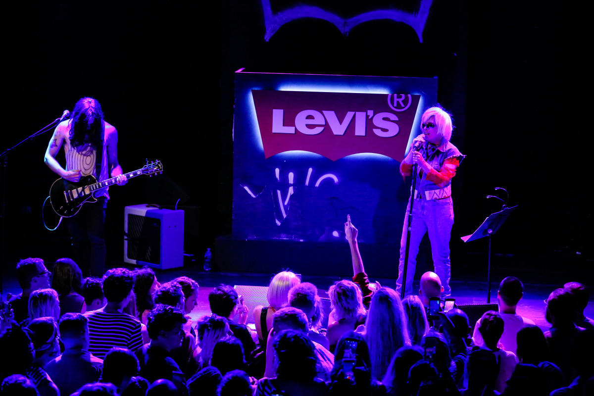 Debbie Harry performs at the Levi's 505c launch party in New York. Photo: Levi's