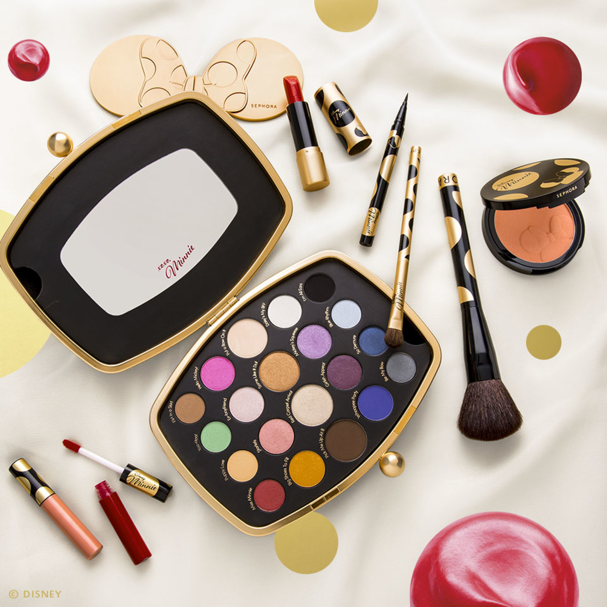 A selection of products from the Sephora x Minnie Mouse collection, available at Sephora. Photo: Courtesy of Disney