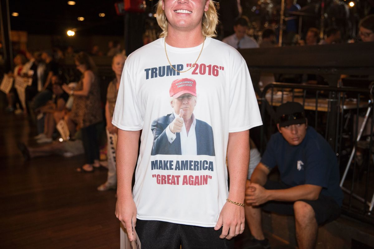 Not official Donald Trump merchandise. Photo: Getty Images