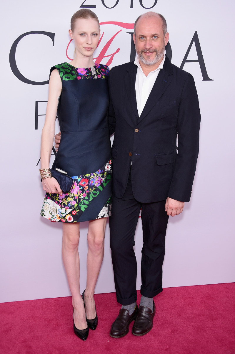 Model Julia Nobis and  Peter Copping at the 2016 CFDA Fashion Awards. Photo: Getty Images