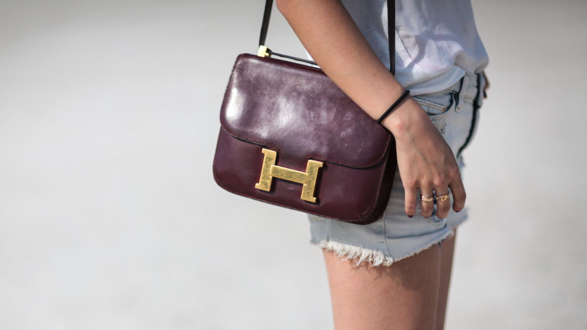 The Hermes Constance bag. Photo: Edward Berthelot/Getty Images
