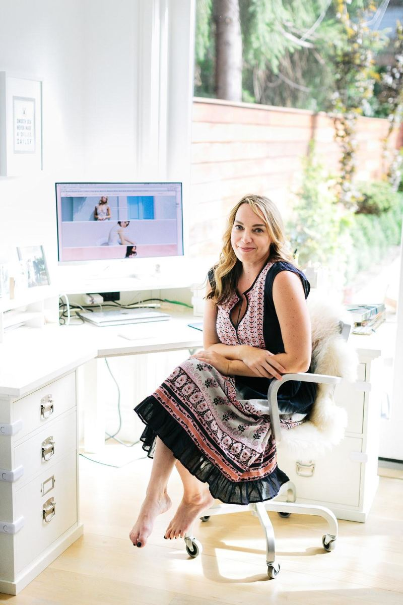 Lovely Bride Founder Lanie List and the shoes-optional office dress code. Photo: Chaz Cruz