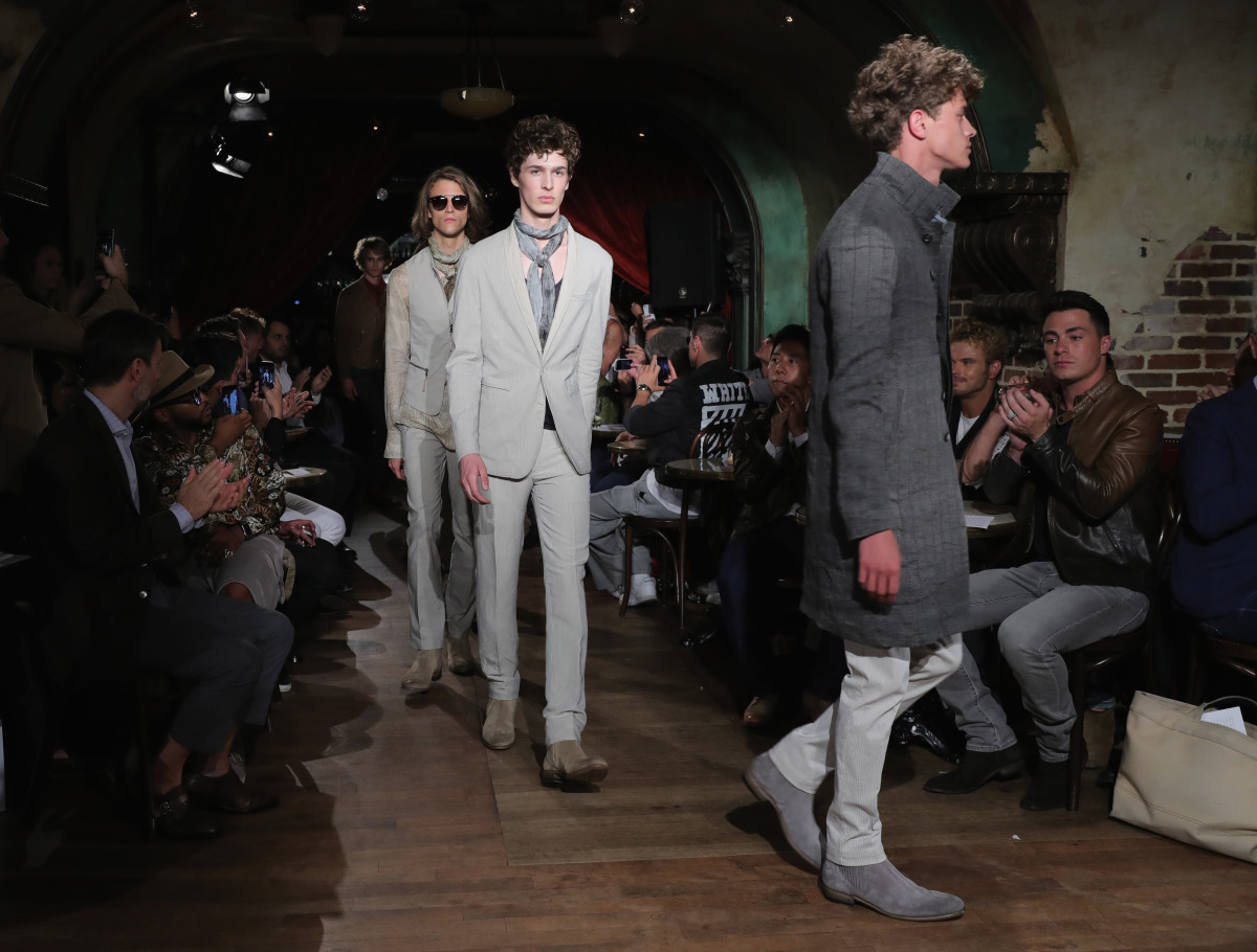 The Spring 2017 John Varvatos runway. Photo: Getty Images
