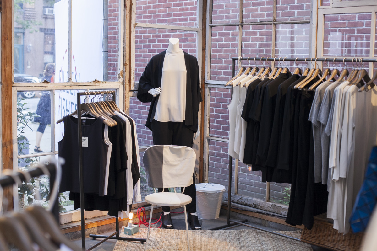 Eileen Fisher Remade Pop Up. Photo: Emily Malan/Fashionista