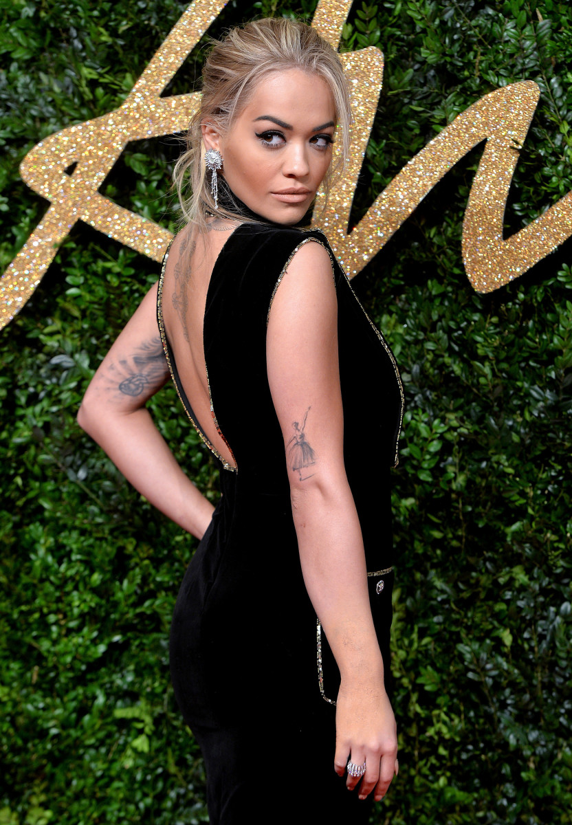 Rita Ora at the 2015 British Fashion Awards. Photo: Anthony Harvey/Getty Images