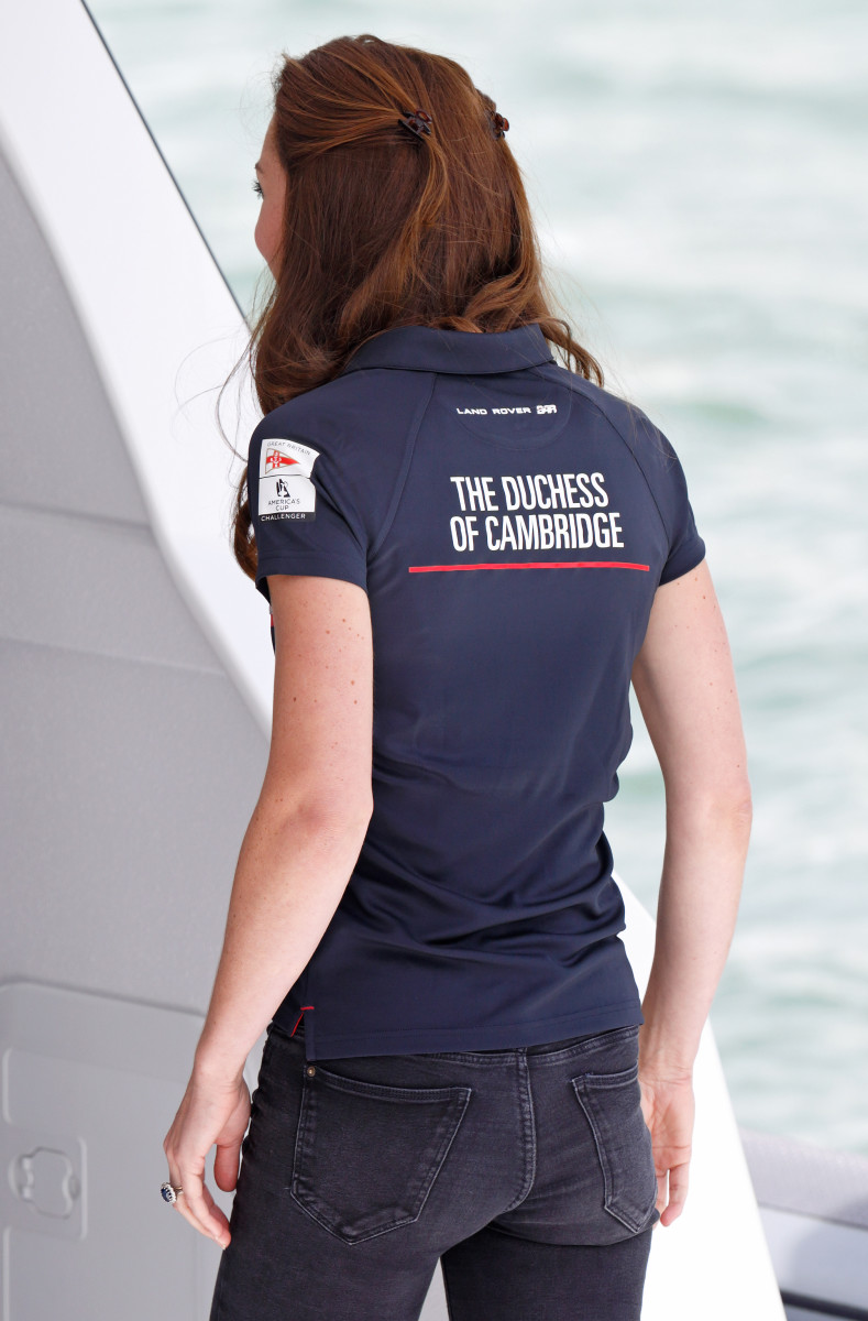 The Duchess of Cambridge at America's Cup World Series in Portsmouth, England on Sunday. Photo: Max Mumby/Indigo/Getty Images