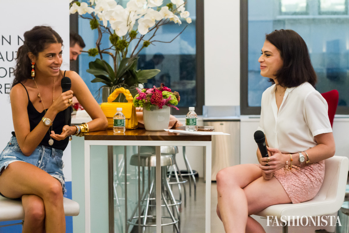 Leandra Medine and Chantal Fernandez at our latest New York City meet-up on Monday. Photo: Meghan Uno/Fashionista