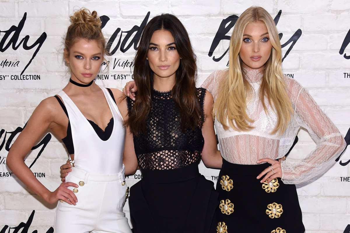 "Victoria's Secret Angels Stella Maxwell, Lily Aldridge and Elsa Hosk launch the new Body by Victoria ""Easy"" bra. Photo: Getty Images"