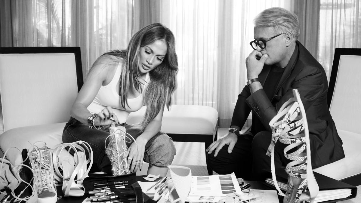 Jennifer Lopez and Giuseppe Zanotti. Photo: Giuseppe Zanotti