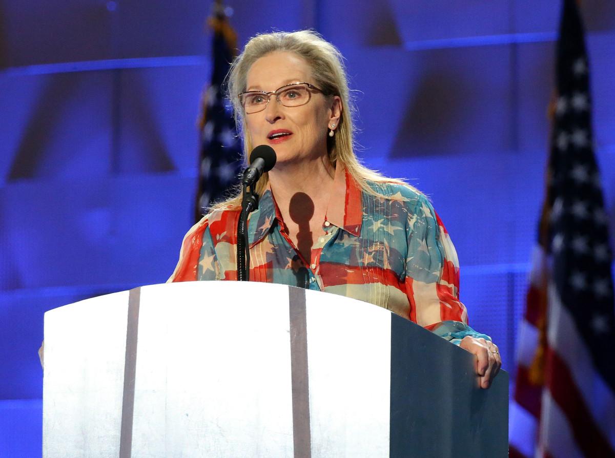 Meryl Streep at the Democratic National Convention in Philadelphia. Photo: Paul Morigi/Getty Images