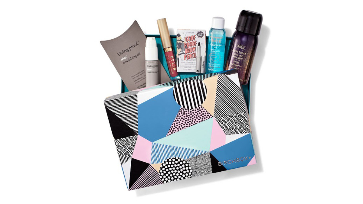 Birchbox's August box. Photo: Courtesy of Birchbox