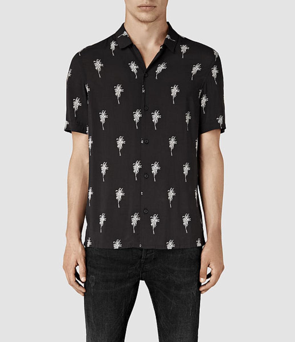 All Saints Men's Archo Short Sleeve Shirt, $155, available at All Saints.