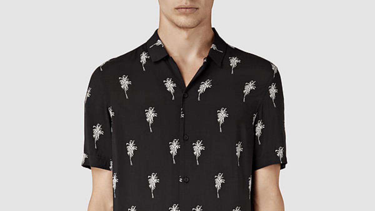 7a80fc1c3ab3d1 Joel Kinnaman Convinced Maria to Get This Men s Palm Tree Shirt -  Fashionista