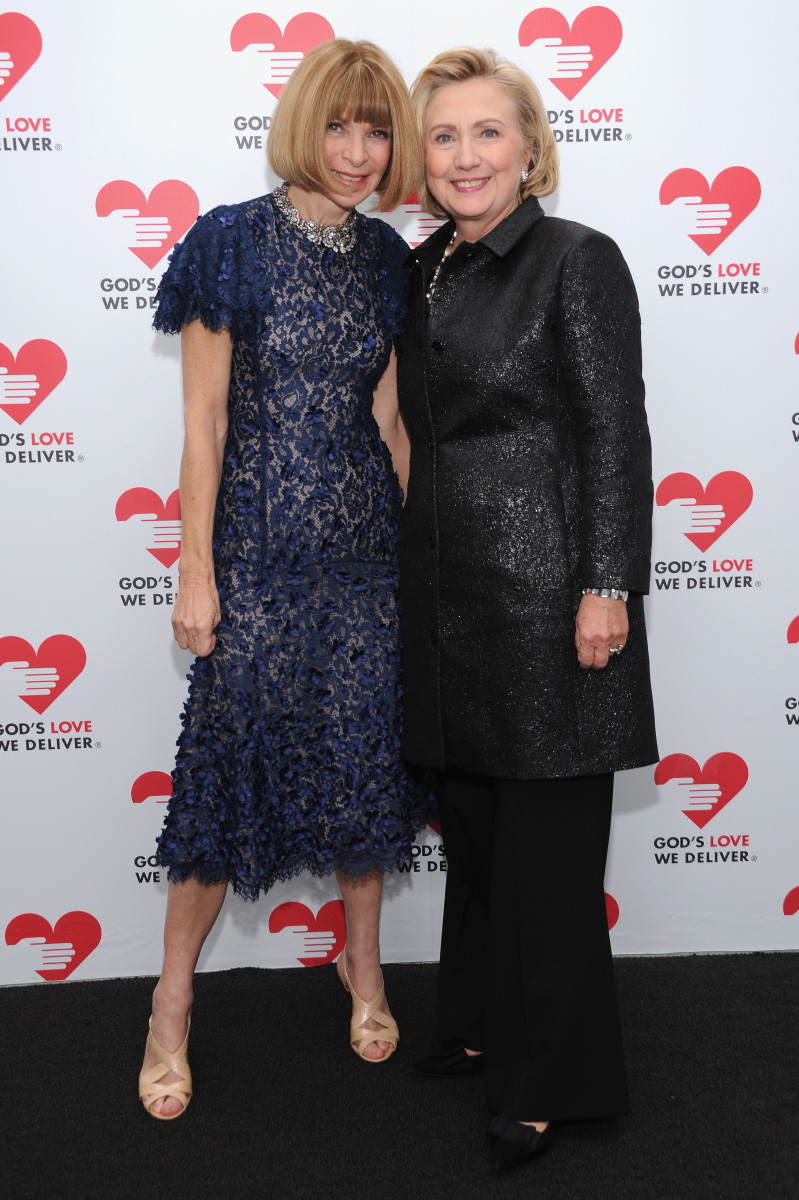 Anna Wintour and Hillary Clinton at a charity event in New York City. Photo: Dimitrios Kambouris/Getty Images