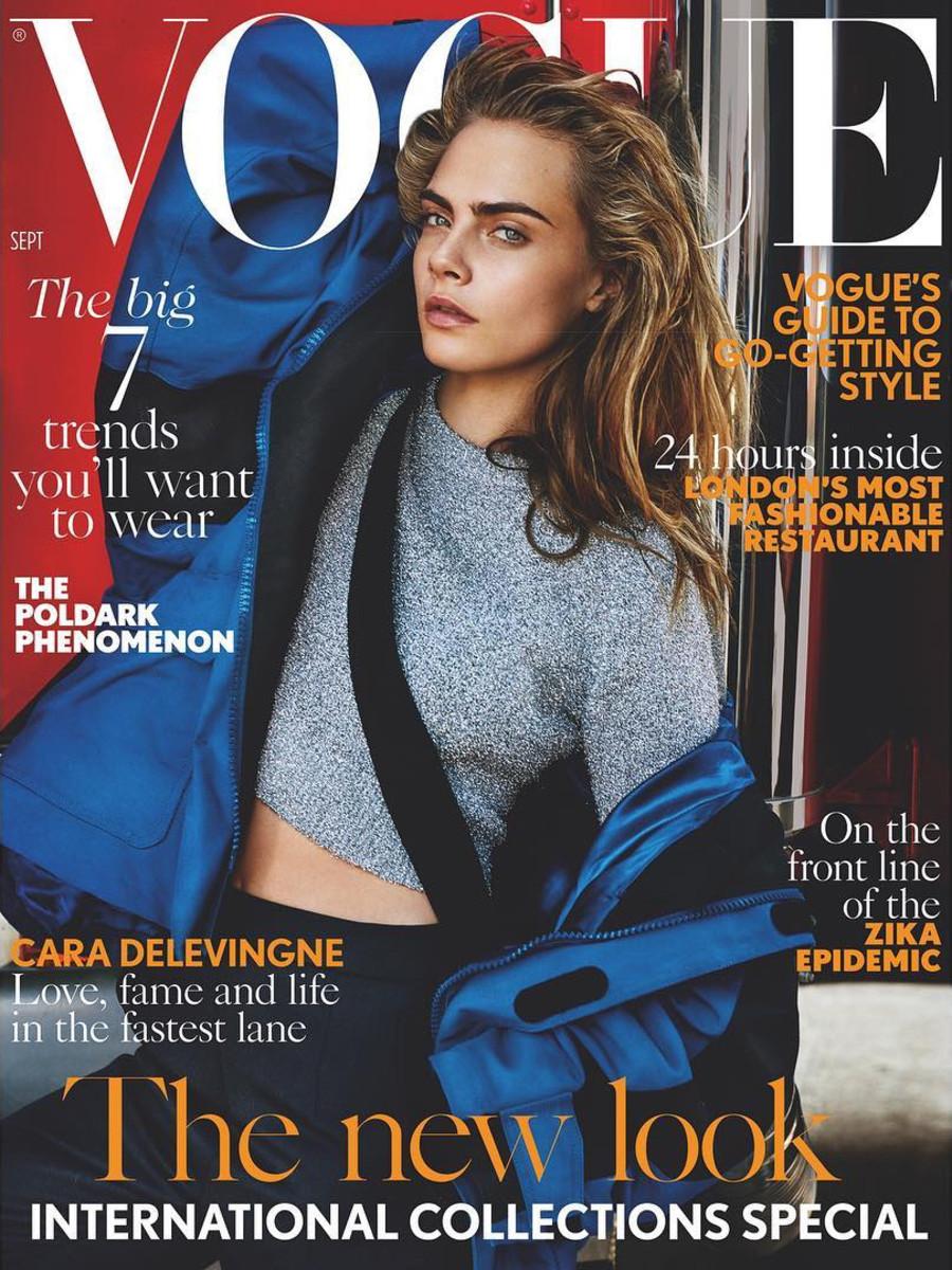 "Cara Delevingne. Photo: British ""Vogue""/Mario Testino"