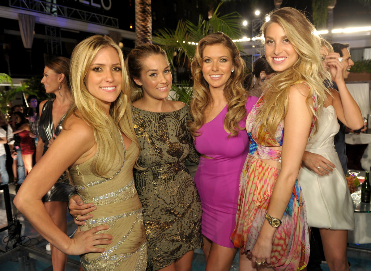 "Kristin Cavallari, Lauren Conrad, Audrina Patridge and Whitney Port at ""The Hills"" series finale party in July 2010 in Hollywood, Calif. Photo: John Shearer/Getty Images"