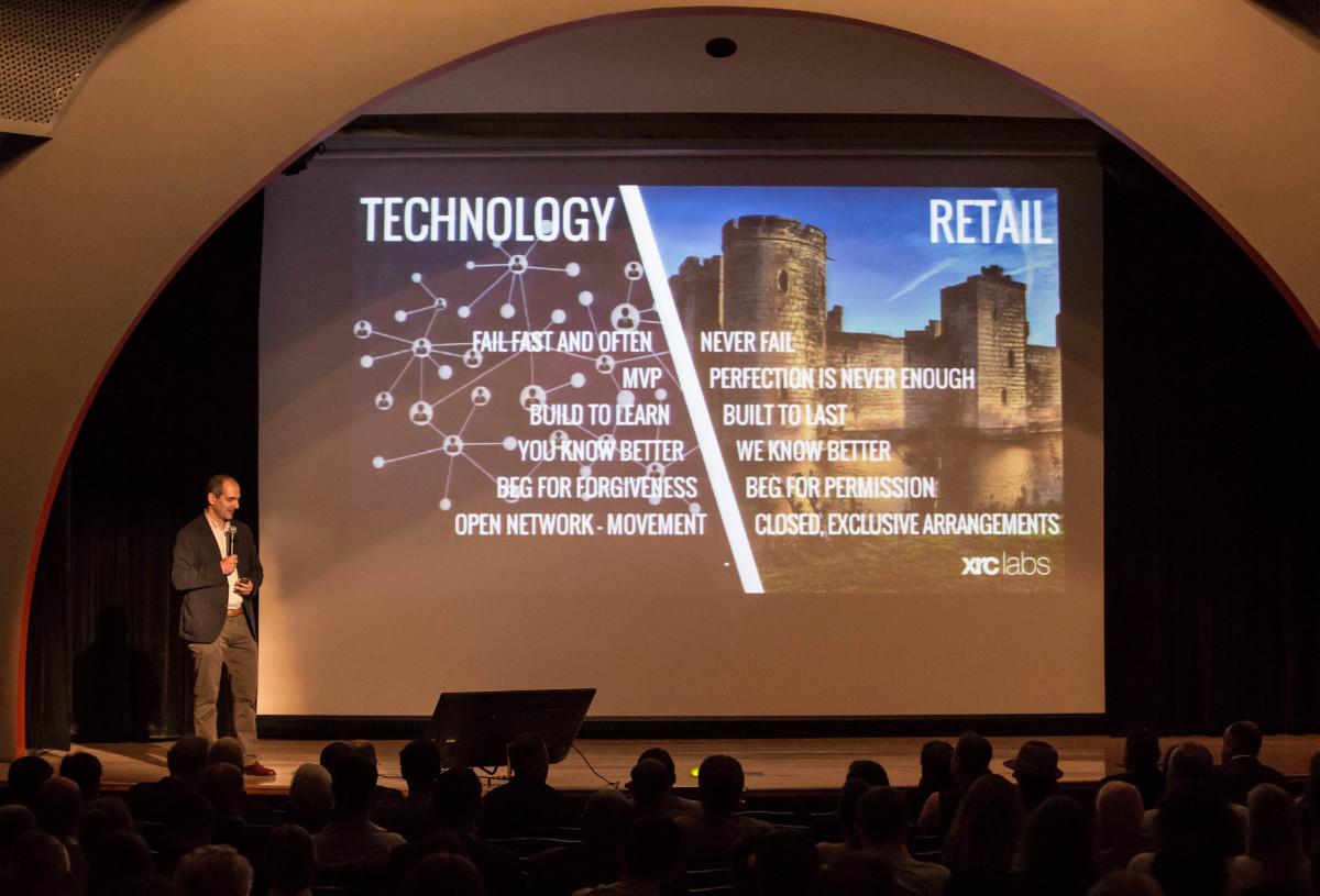 Pano Anthos of XRC Labs on Demo Day. Photo: XRC Labs