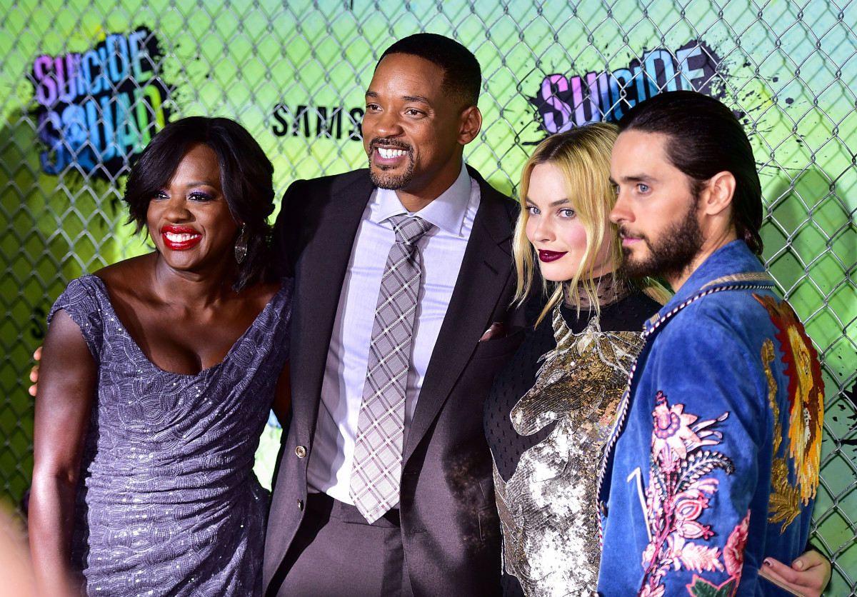 Viola Davis, Will Smith, Margot Robbie and Jared Leto at the premiere of 'Suicide Squad' in New York City. Photo: James Devaney/Getty Images