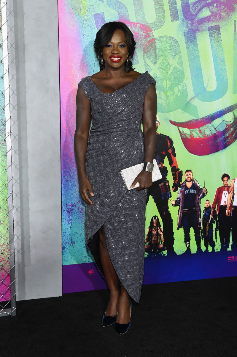 Viola Davis in a Vivienne Westwood dress. Photo: Getty Images