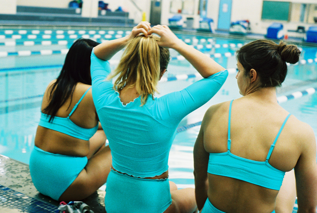 Columbia University swimmers in Babes in Bathers. Photo: Mayan Toledano