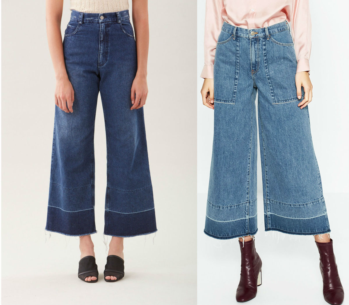 Left: Rachel Comey; Right: Zara
