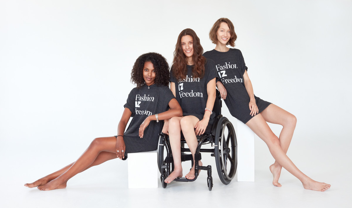 All profits from Fashion IZ Freedom T-shirts go towards the StopGap Foundation. Photo: Chris Chapman