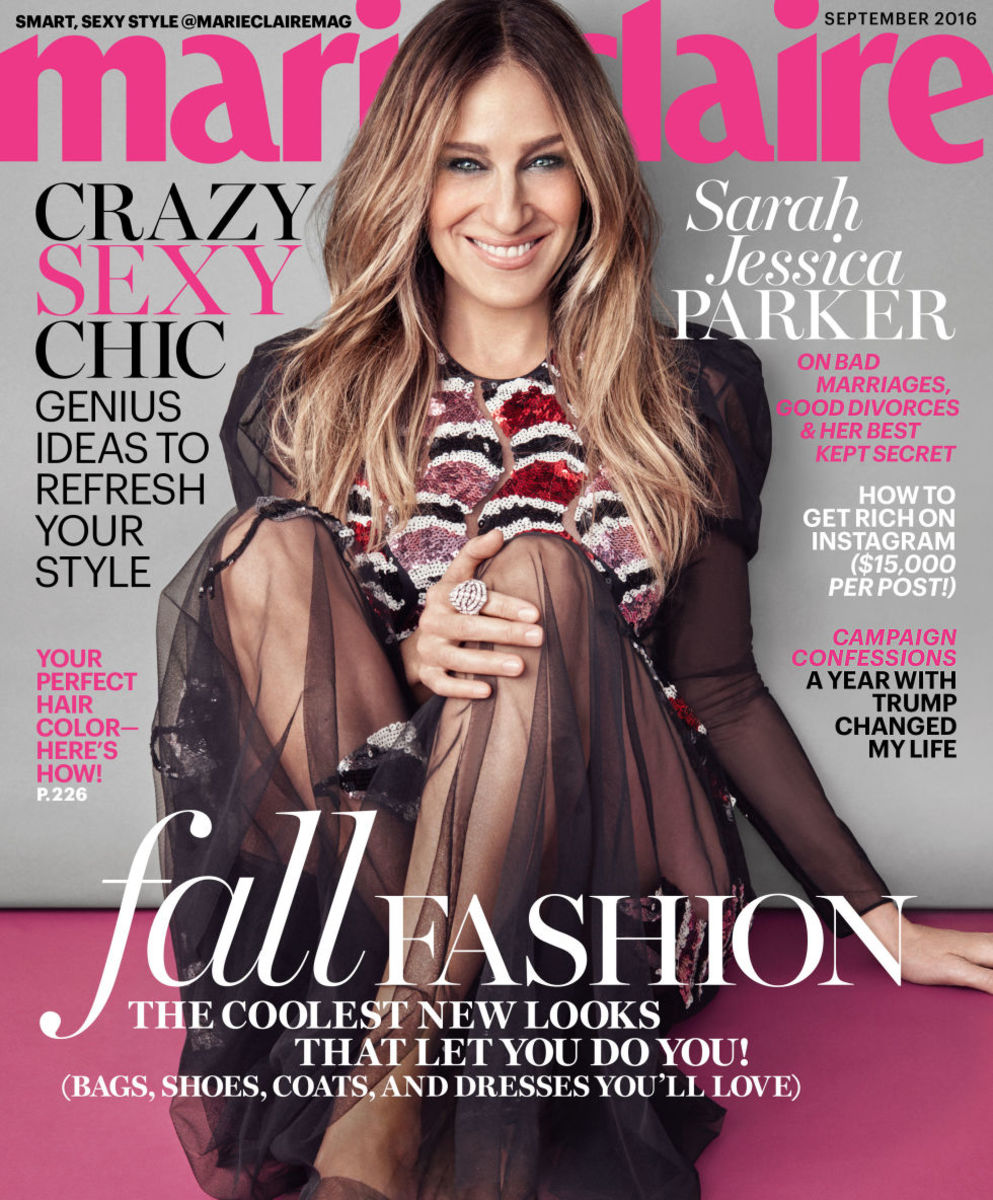 Sarah Jessica Parker on the September 2016 issue of Marie Claire. Photo: Michelango di Battista