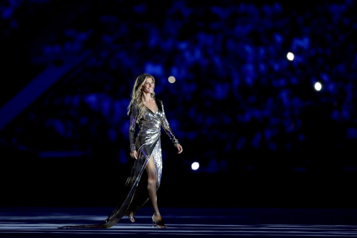 Gisele Bündchen at the 2016 Summer Olympics in Rio de Janeiro, Brazil on Friday. Photo: Jamie Squire/Getty Images