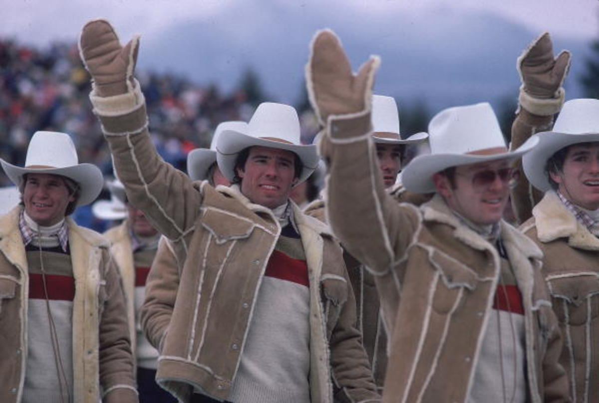 Team USA, 1980 Winter Olympics. Photo: Jerry Cooke/Getty Images
