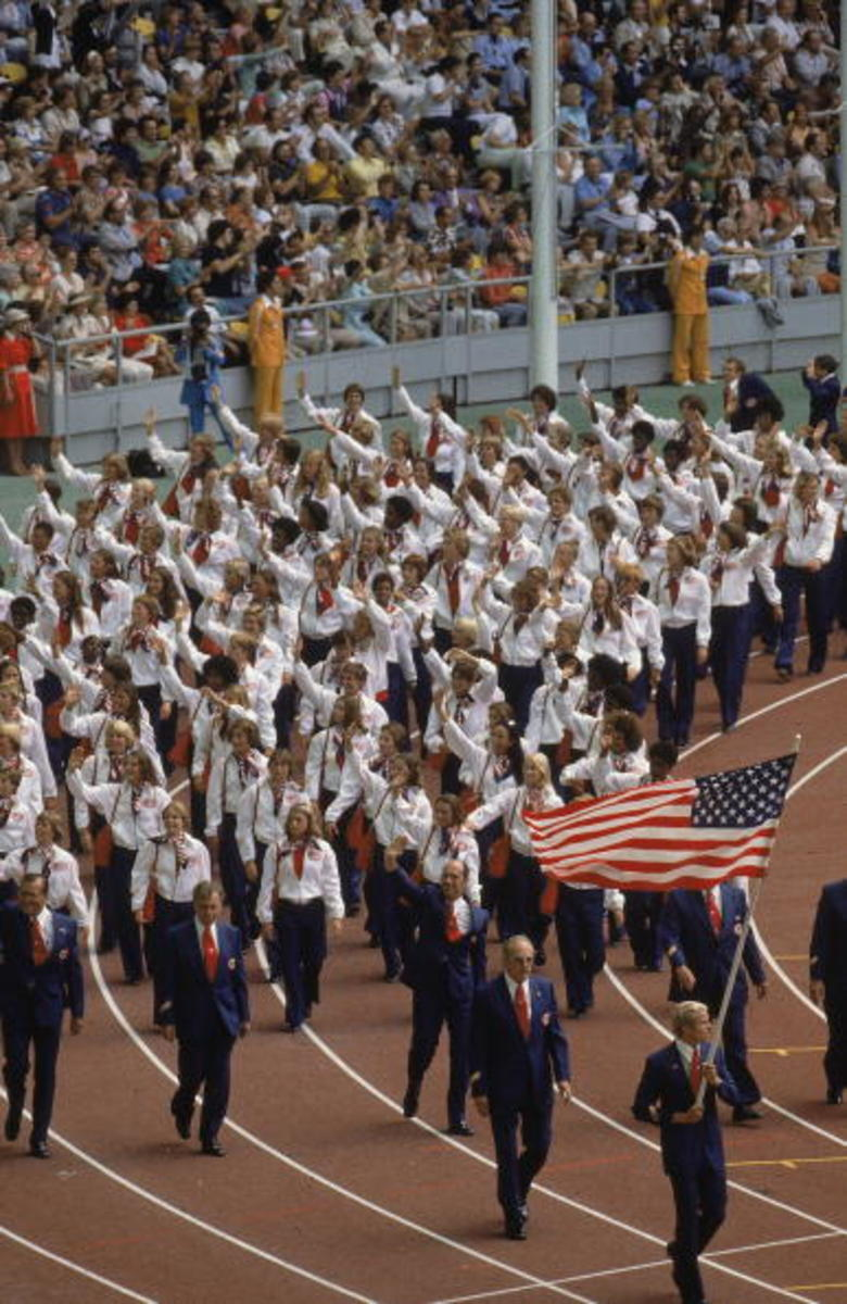Team USA, 1976 Summer Olympics. Photo: James Drake/Getty Images