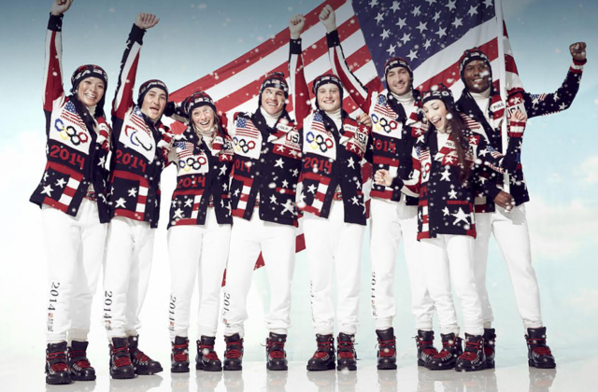 Ralph Lauren's 2014 Winter Olympic Team USA uniforms. Photo: Ralph Lauren