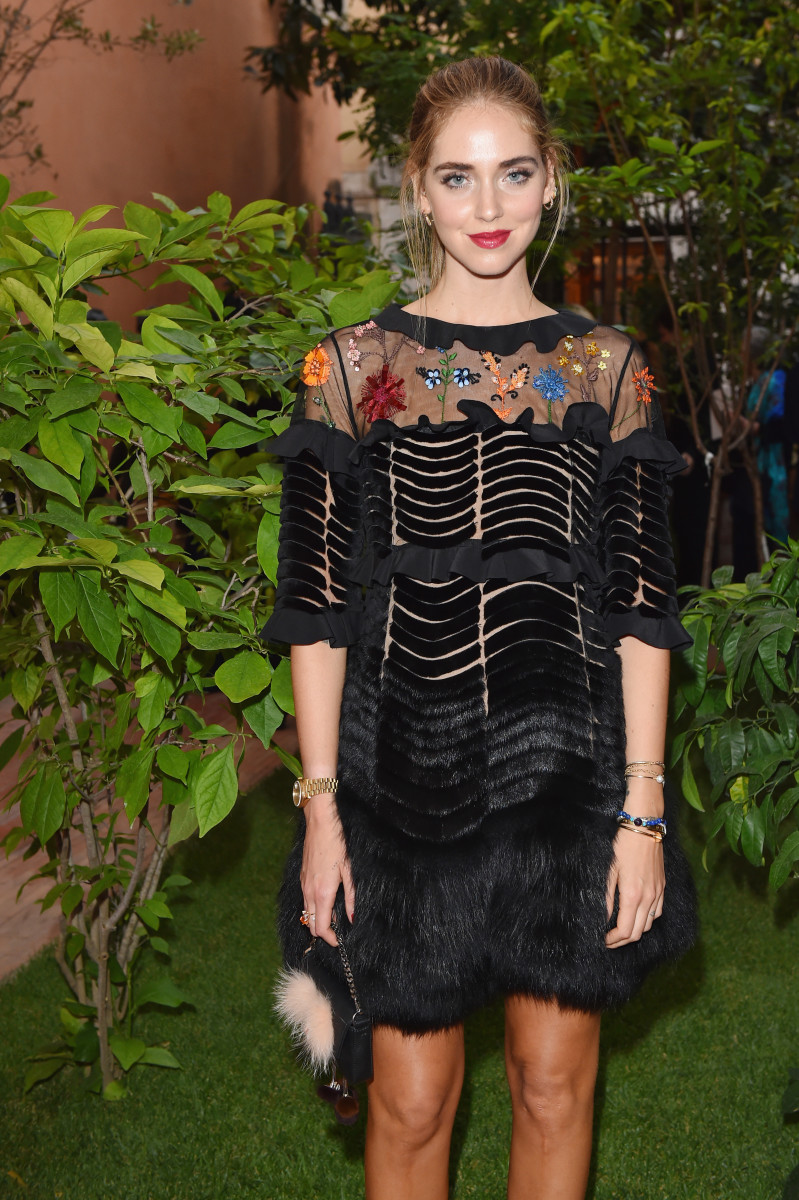 Chiara Ferragni attends the Fendi Roma 90 Years Anniversary Welcome Cocktail in Rome. Photo: Jacopo Raule/Getty Images