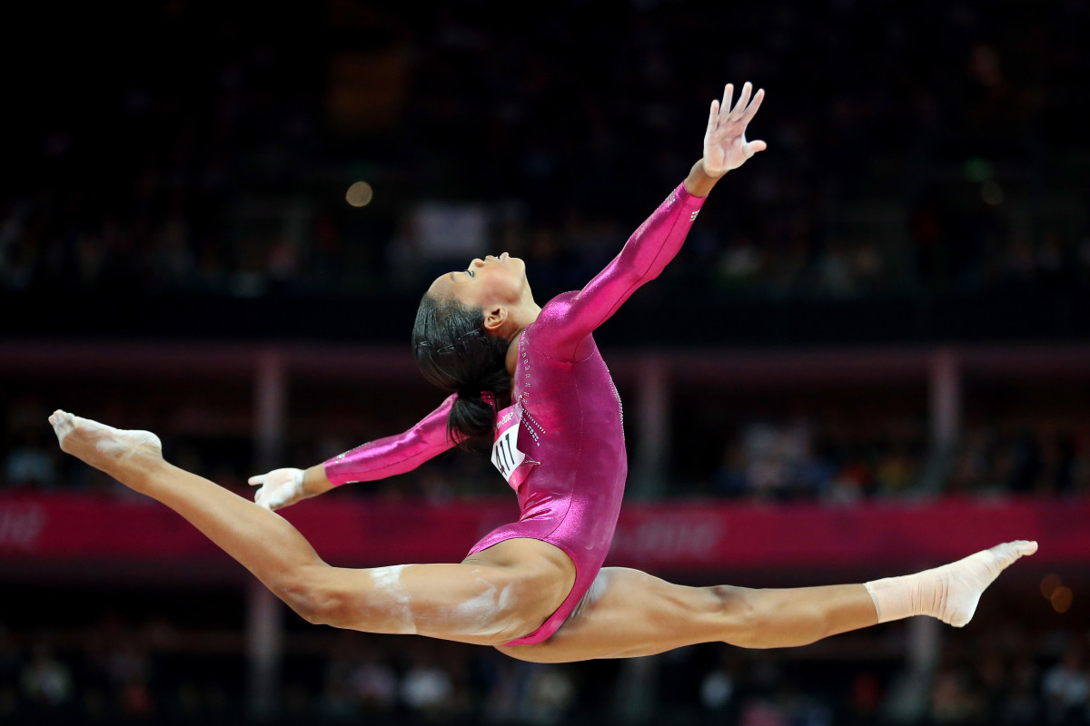 Gabby Douglas competing in the individual all-around final at the London Olympic Games in 2012. Photo by Streeter Lecka/Getty Images