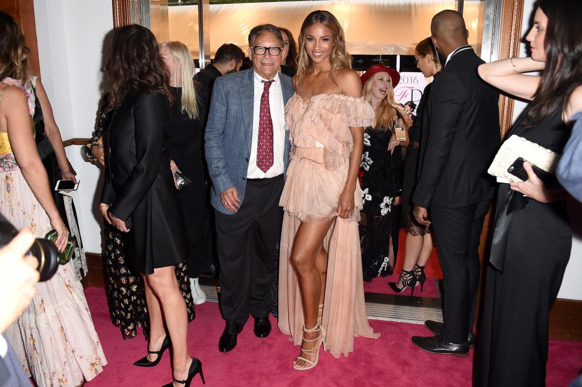 Weitzman with Ciara at the 2016 CFDA Awards.