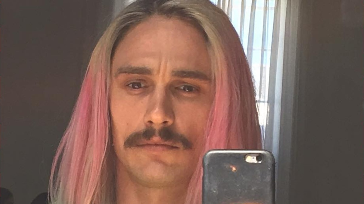 James Franco Has Neon Ombr 233 Hair Now Fashionista