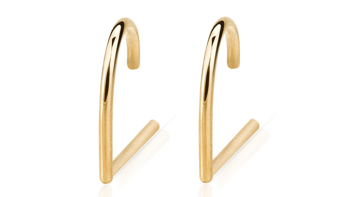 Smith + Mara Solid Gold Suspender Earring, $150, available at smithandmara.com.