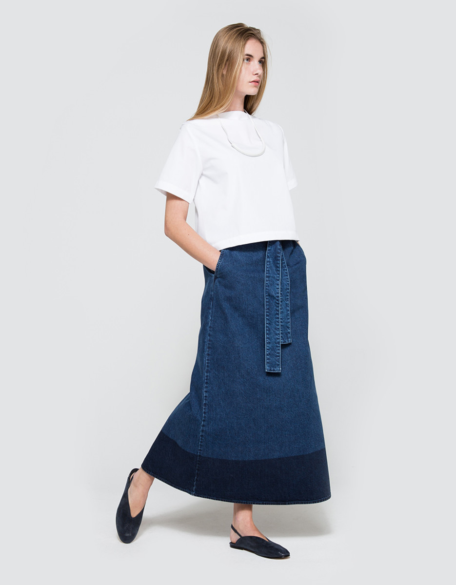 NSCO Denim Skirt, $258, available at Need Supply Co.Photo: Courtesy of Need Supply Co.