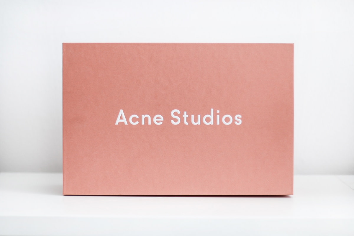 Acne Studios packaging.
