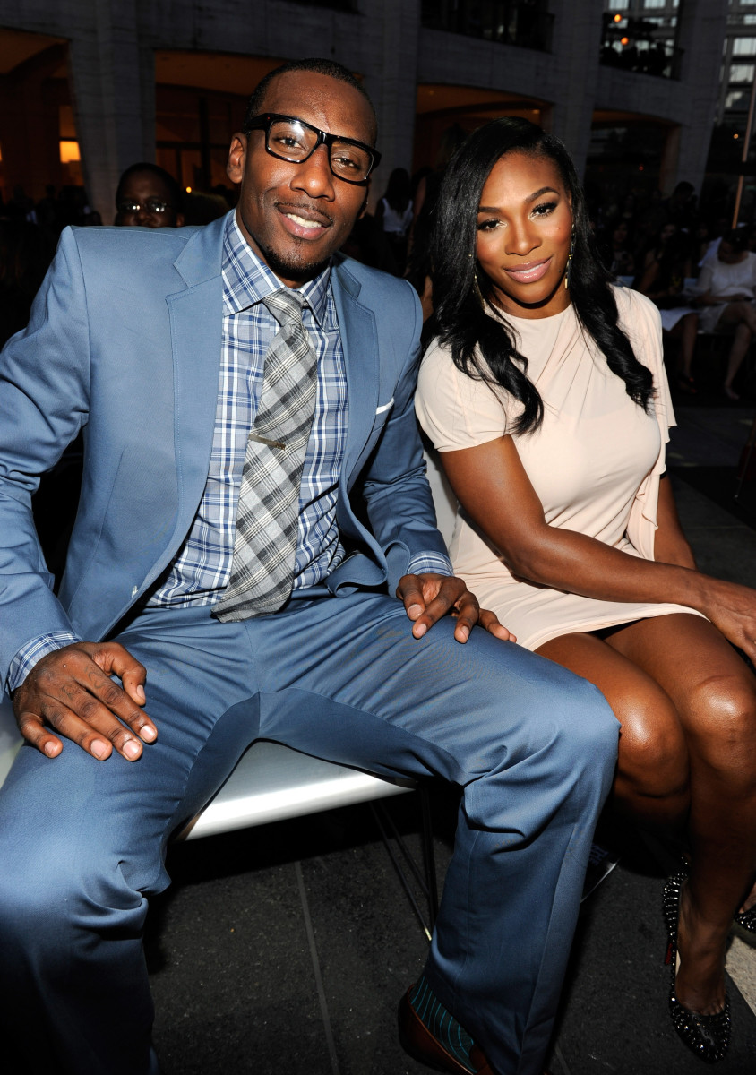 'Do you like my outfit?' Amar'e Stoudemire in Tom Ford and Serena Williams at Vogue's first Fashion's Night Out in 2010. Photo: Kevin Mazur/Getty Images