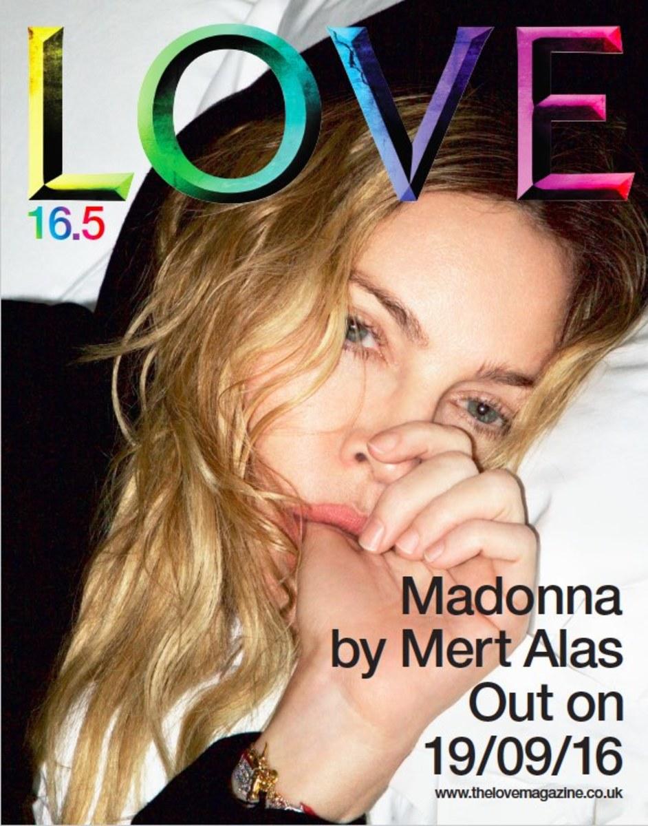 Madonna for LoveMagazine. Photo: Mert Alas