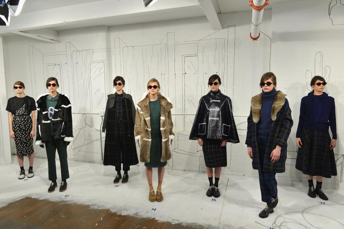 Band of Outsiders fall 2014. Photo:  Slaven Vlasic/Getty Images