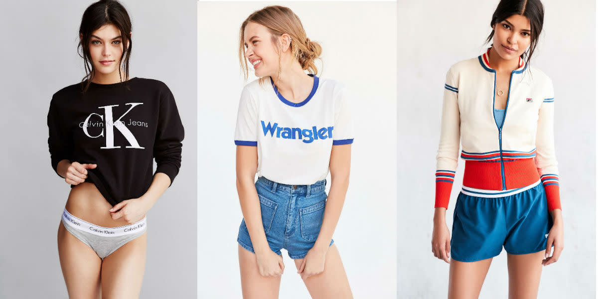 Calvin Klein, Wrangler and Fila for Urban Outfitters. Photos: Urbanoutfitters.com