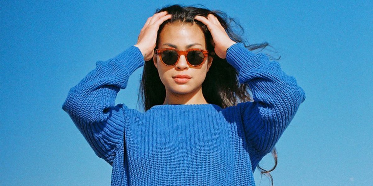 Danielle in American Apparel's Unisex Fisherman's Pullover. Photo: American Apparel