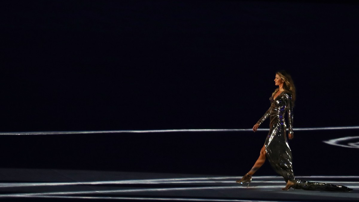 Gisele at the Opening Ceremony for the 2016 Olympic Games. Photo: Dean Mouhtaropoulos/Getty Images